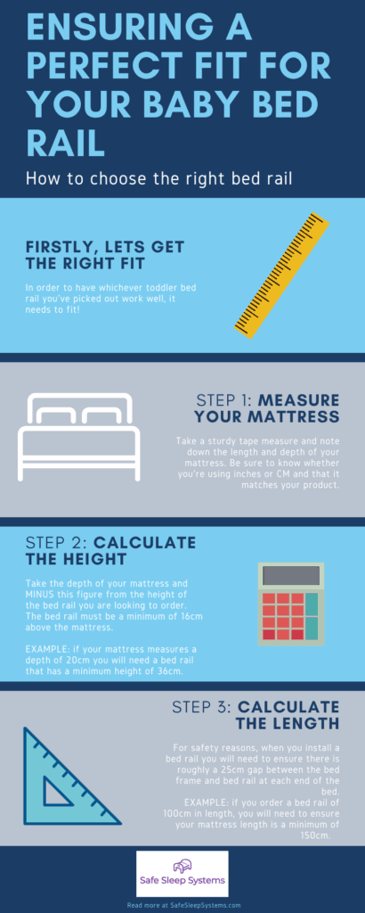 Infographic of how to choose the right baby bed rail for toddlers